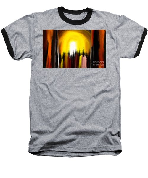 Baseball T-Shirt featuring the painting Right Way by Rushan Ruzaick
