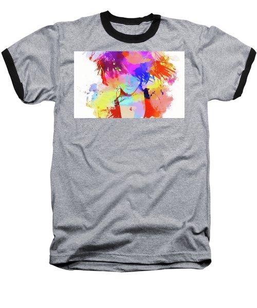 Rihanna Paint Splatter Baseball T-Shirt