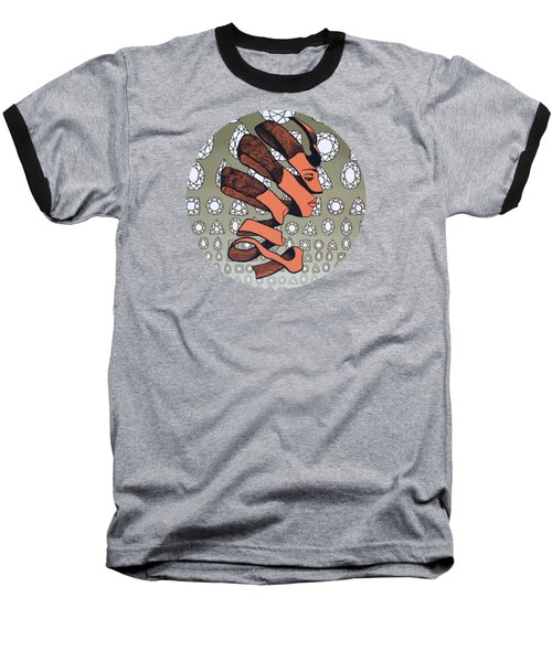 Rind Beauty Baseball T-Shirt by Malinda Prudhomme