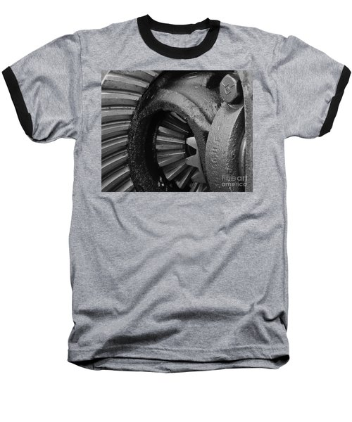 Ring And Pinion Bw Baseball T-Shirt by Chalet Roome-Rigdon