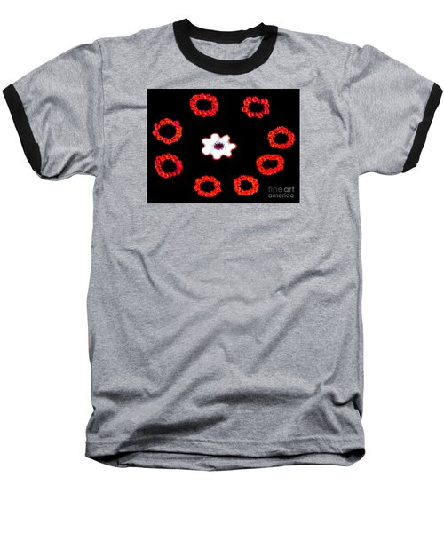 Baseball T-Shirt featuring the photograph Ring Around A Posey - Modern Art by Merton Allen
