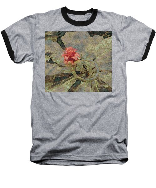Ring Around The Posy Baseball T-Shirt by Kathie Chicoine