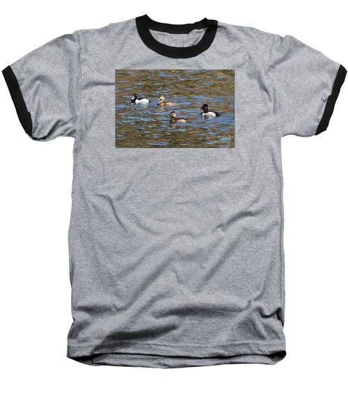 Baseball T-Shirt featuring the photograph Ring Neck Ducks 20120314_d by Tina Hopkins