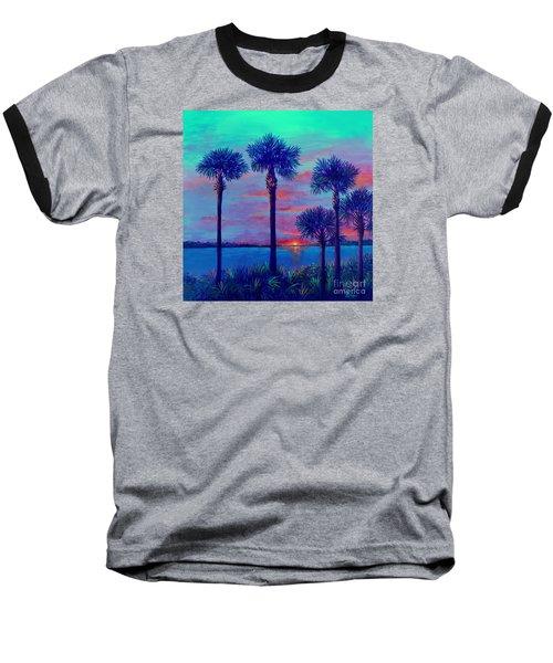 Ringling Bridge Sunset Baseball T-Shirt