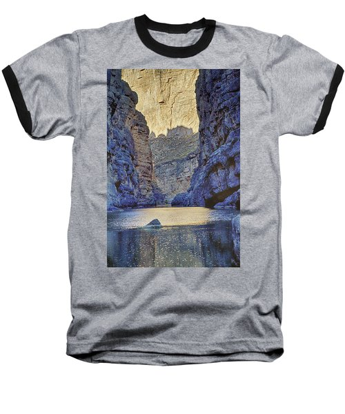 Rio Grand, Santa Elena Canyon Texas 2 Baseball T-Shirt by Kathy Adams Clark