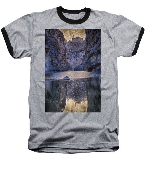 Rio Grand, Santa Elena Canyon Texas Baseball T-Shirt by Kathy Adams Clark