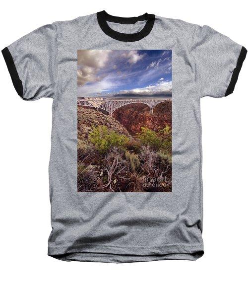 Baseball T-Shirt featuring the photograph Rio Grande Gorge Bridge by Jill Battaglia