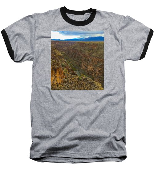 Rio Grande Gorge Just After Dawn Baseball T-Shirt by Brenda Pressnall
