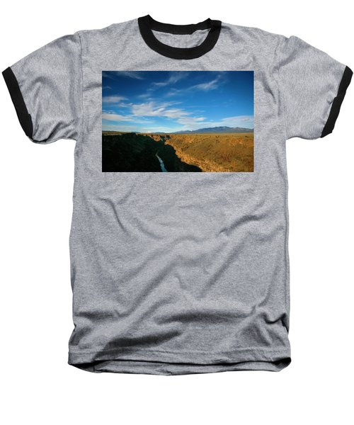 Baseball T-Shirt featuring the photograph Rio Grande Gorge Nm by Marilyn Hunt