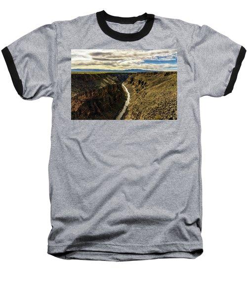 Rio Grande Gorge  Baseball T-Shirt by Robert FERD Frank