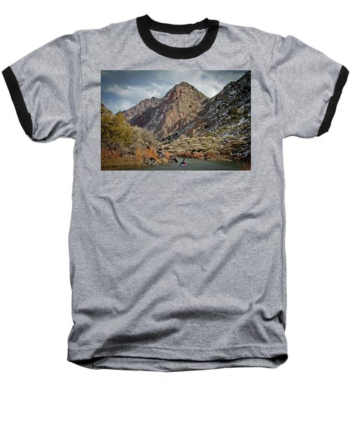 Baseball T-Shirt featuring the photograph Rio Grande Racecourse In Winter by Atom Crawford