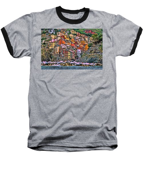 Baseball T-Shirt featuring the photograph Riomaggiore by Allen Beatty