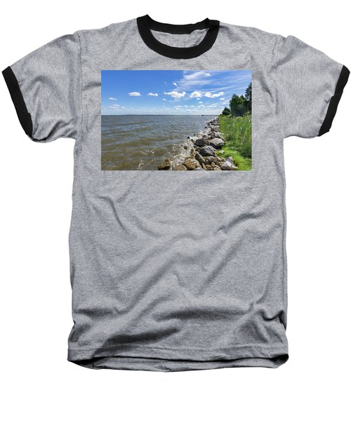 Baseball T-Shirt featuring the photograph Rip-rap On The Chester River by Charles Kraus