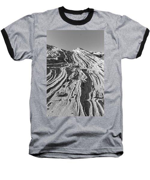 Rippled Sandstone At Waterhole Canyon Baseball T-Shirt