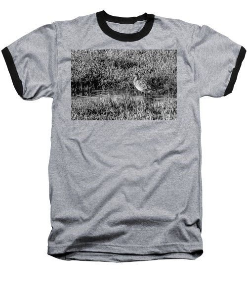 Camouflage, Black And White Baseball T-Shirt