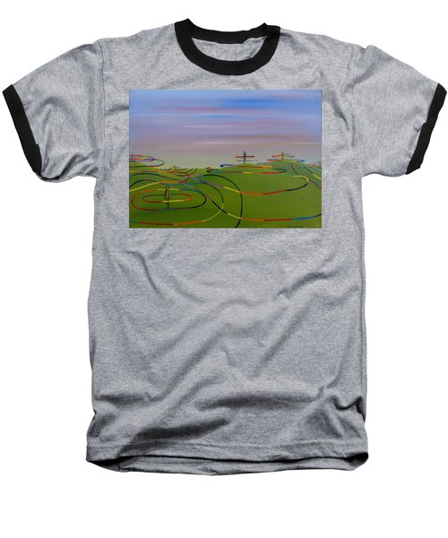 Baseball T-Shirt featuring the painting Ripples Of Life 1.2 by Tim Mullaney