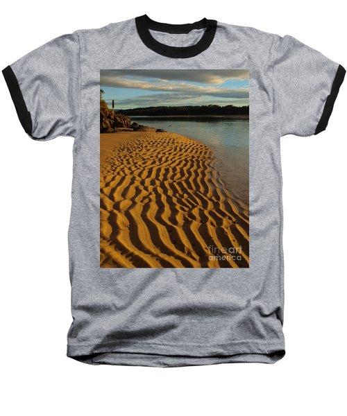 Ripples To The Edge Baseball T-Shirt by Trena Mara