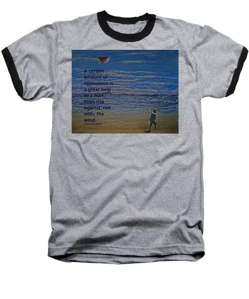 Rise Against The Wind Baseball T-Shirt by Ian  MacDonald