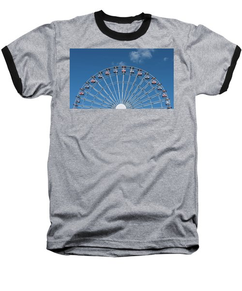 Rise Up Ferris Wheel In The Clouds Seaside Nj Baseball T-Shirt by Terry DeLuco
