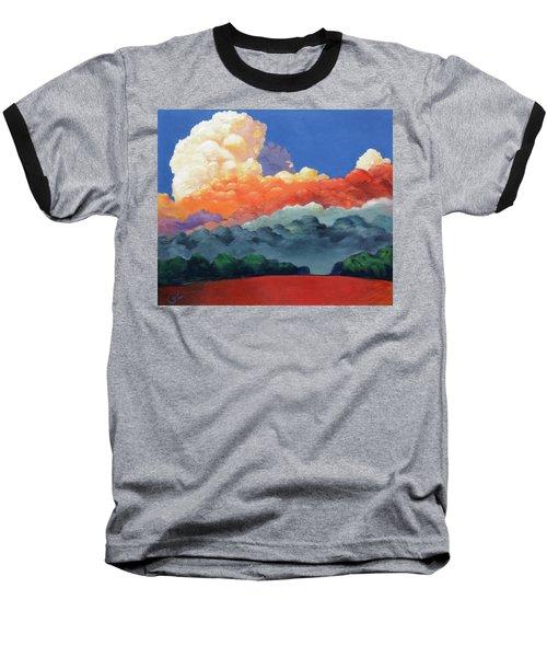 Rising High Baseball T-Shirt by Gary Coleman