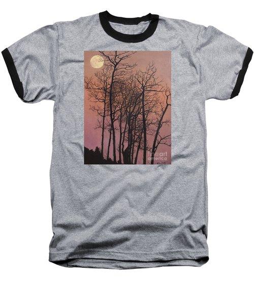 Rising Of The Moon  Baseball T-Shirt by Barbara Barber