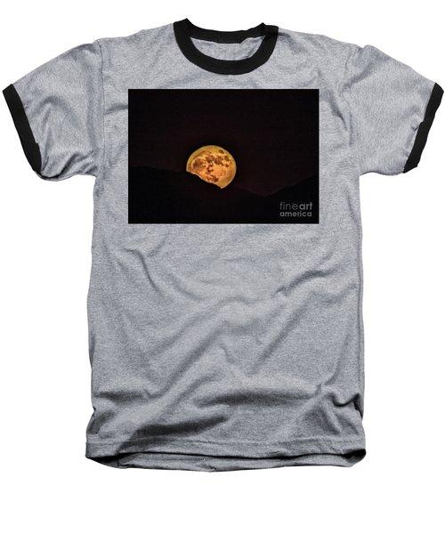 Rising Supermoon Baseball T-Shirt by Robert Bales
