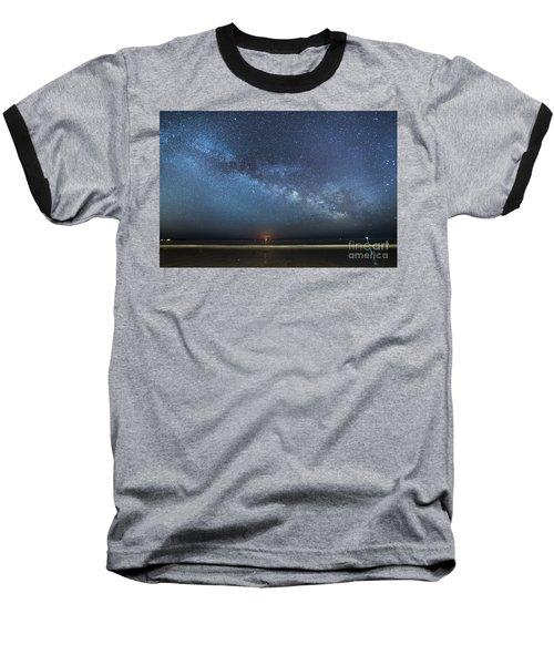 Rising Tide Rising Moon Rising Milky Way Baseball T-Shirt