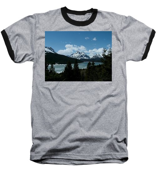 Rising Wolf And Two Medicine Lake Baseball T-Shirt