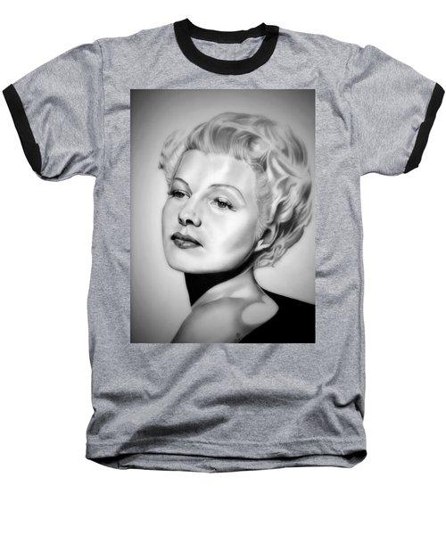 Rita Hayworth Baseball T-Shirt