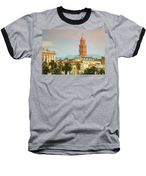 Riva Waterfront, Houses And Cathedral Of Saint Domnius, Dujam, D Baseball T-Shirt