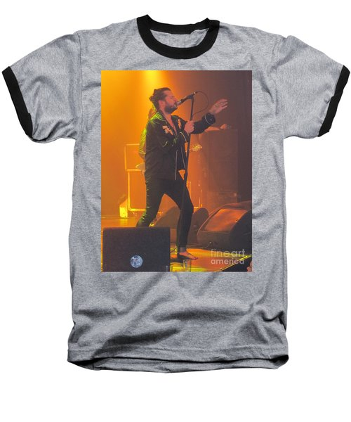 Baseball T-Shirt featuring the photograph Rival Sons Jay Buchanan by Jeepee Aero