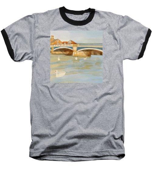 River At Royal Windsor Baseball T-Shirt by Joanne Perkins