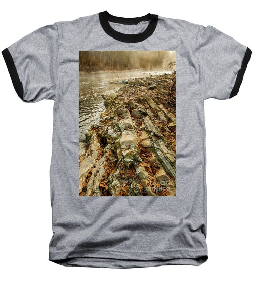 Baseball T-Shirt featuring the photograph River Bank by Iris Greenwell