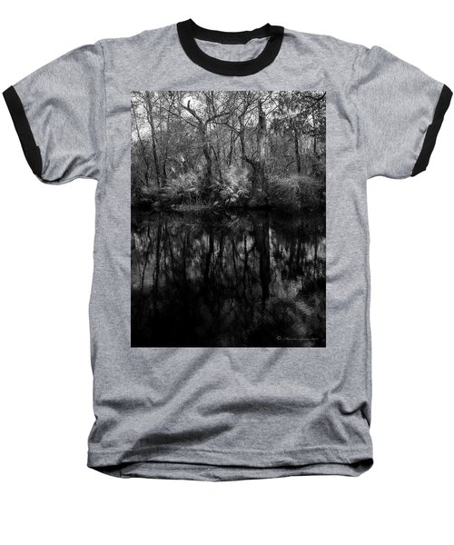 Baseball T-Shirt featuring the photograph River Bank Palmetto by Marvin Spates