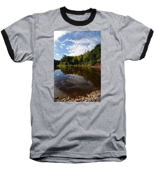 Baseball T-Shirt featuring the photograph River Beauty by Sandra Updyke