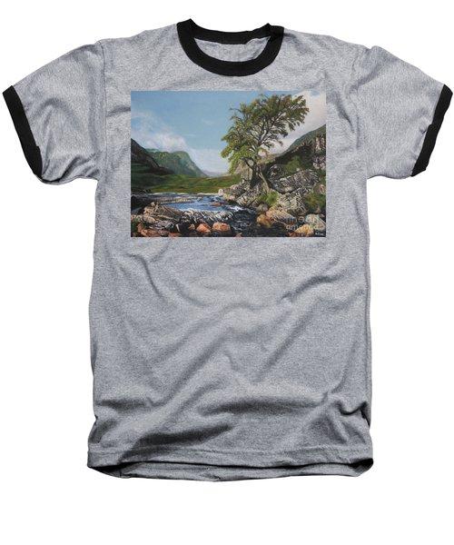 River Coe Scotland Oil On Canvas Baseball T-Shirt