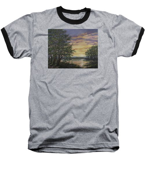River Cove Sundown Baseball T-Shirt