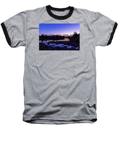 Baseball T-Shirt featuring the photograph River Crossing by Alan Raasch