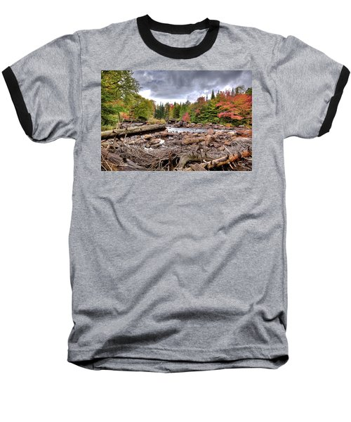 Baseball T-Shirt featuring the photograph River Debris At Indian Rapids by David Patterson