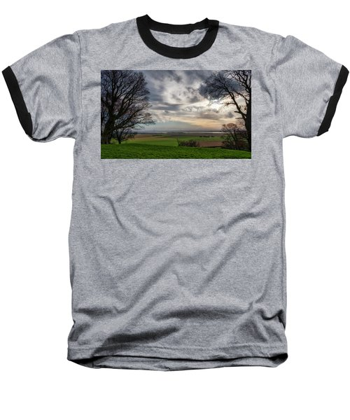 Baseball T-Shirt featuring the photograph River Forth View From Clackmannan Tower by Jeremy Lavender Photography