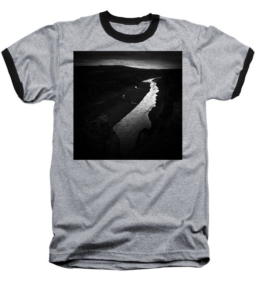 River In The Dark In Iceland Baseball T-Shirt
