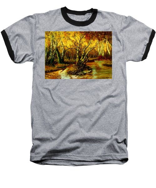 River In The Forest Baseball T-Shirt by Henryk Gorecki
