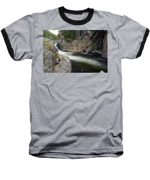 River In The Rockies Baseball T-Shirt