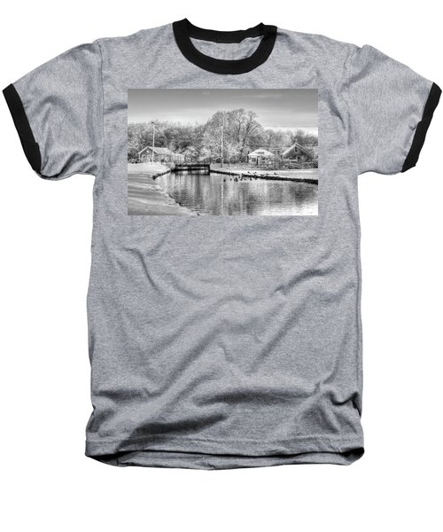 River In The Snow Baseball T-Shirt