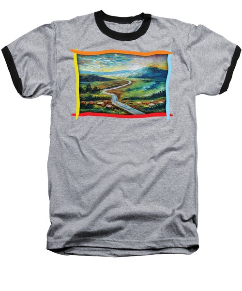 River In The Valley Baseball T-Shirt