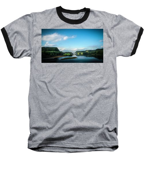 Baseball T-Shirt featuring the photograph River Islands by Marvin Spates