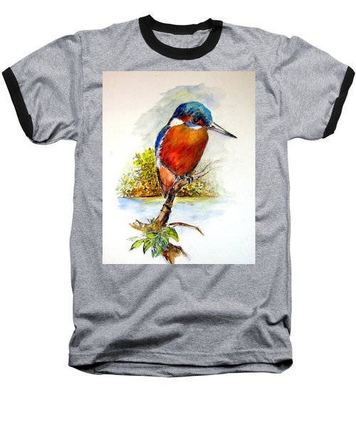 River Kingfisher Baseball T-Shirt