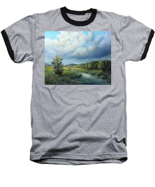 River Landscape Spring After The Rain Baseball T-Shirt