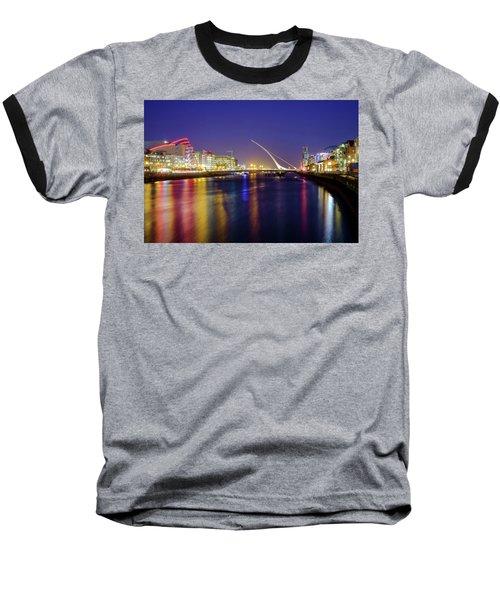 River Liffey In Dublin At Dusk Baseball T-Shirt