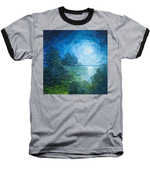 River Moon Baseball T-Shirt